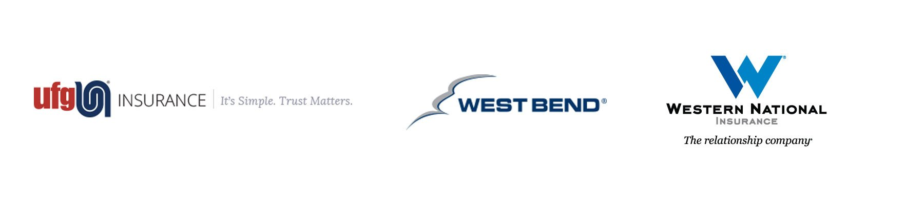 UFG Insurance Logo, West Bend Logo, Western National Insurance Logo